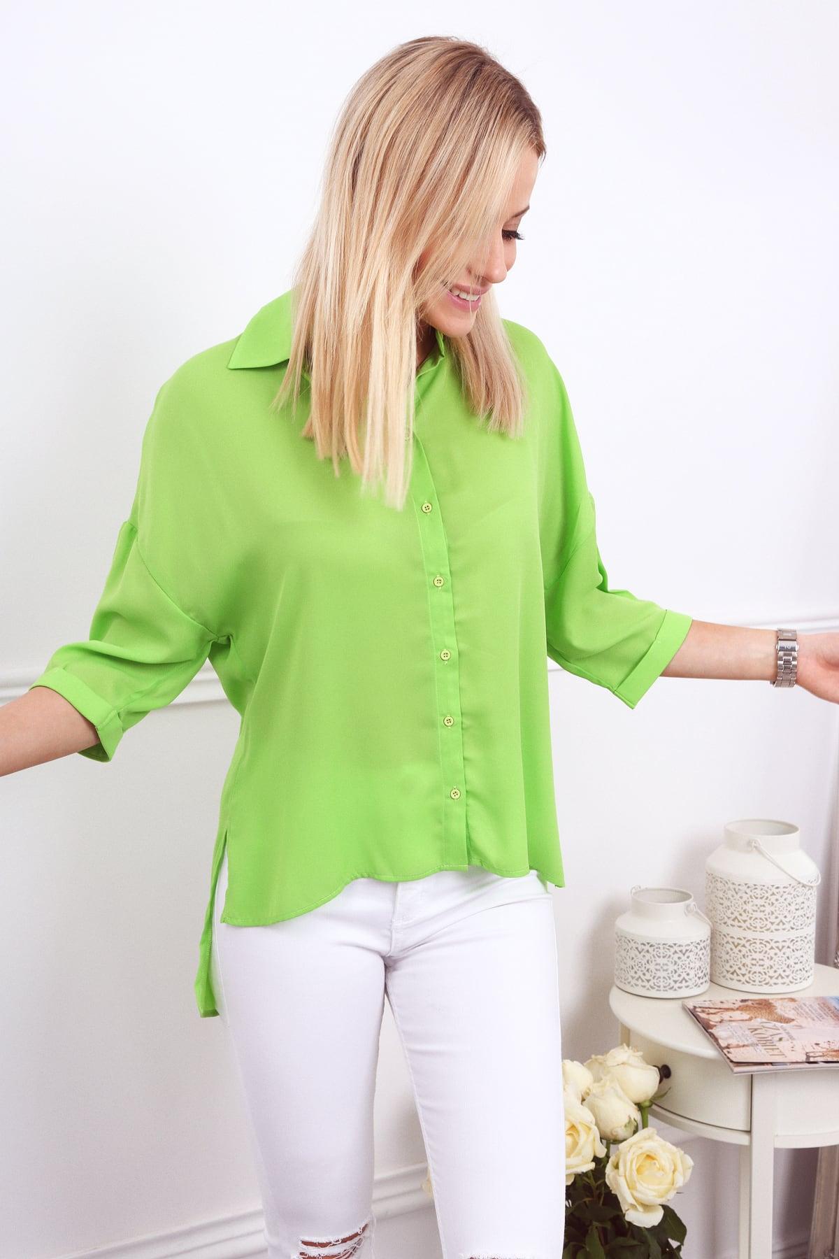 Dámska košeľa zelená