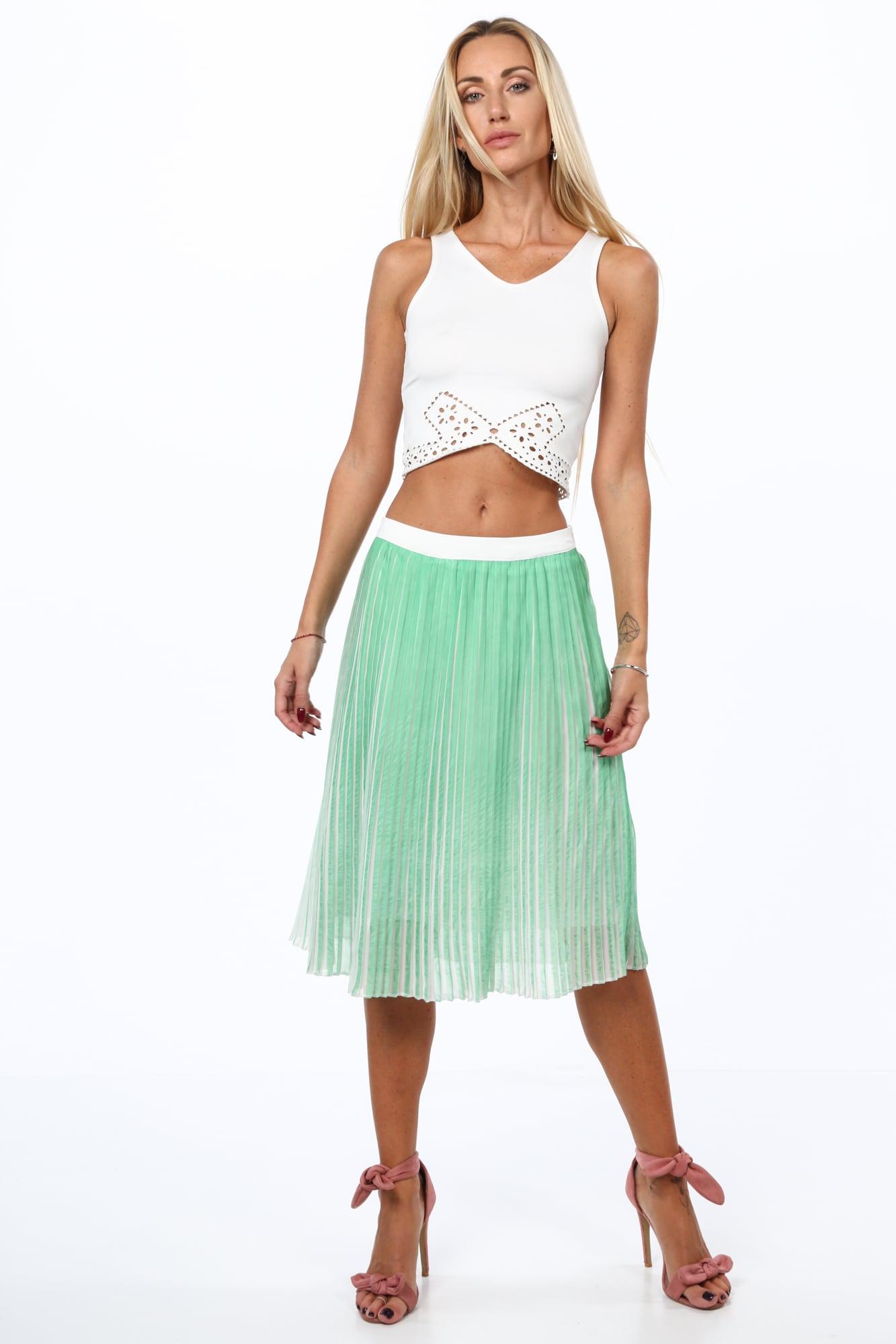 Plisovaná sukňa zelená