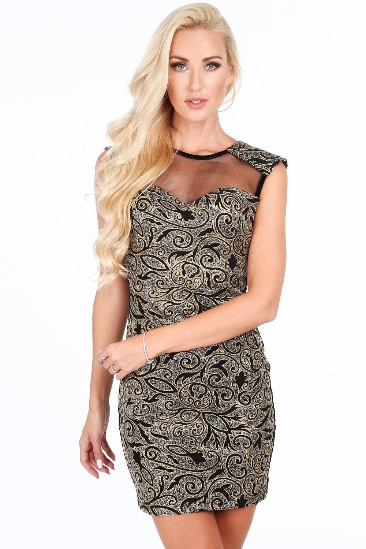 Šaty s čierno strieborným vzorom