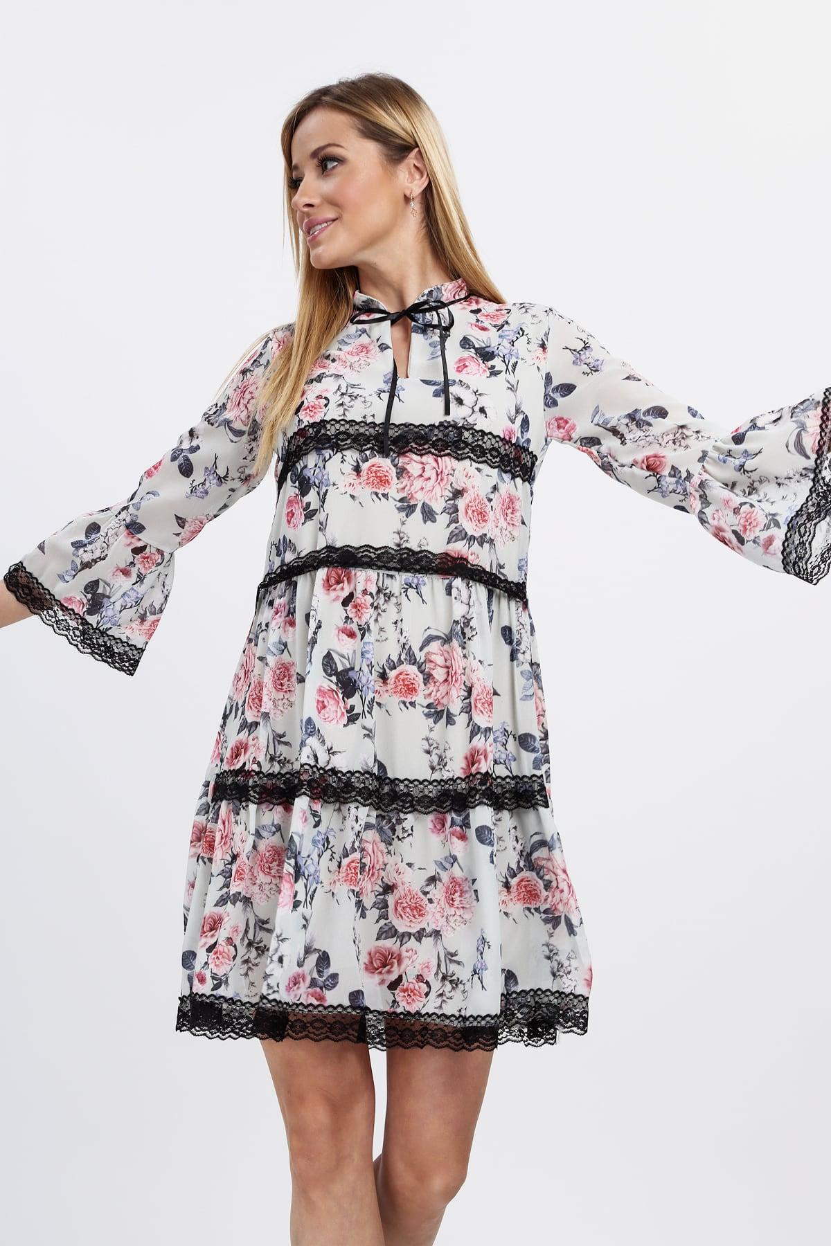 Vzdušné kvetinové šaty