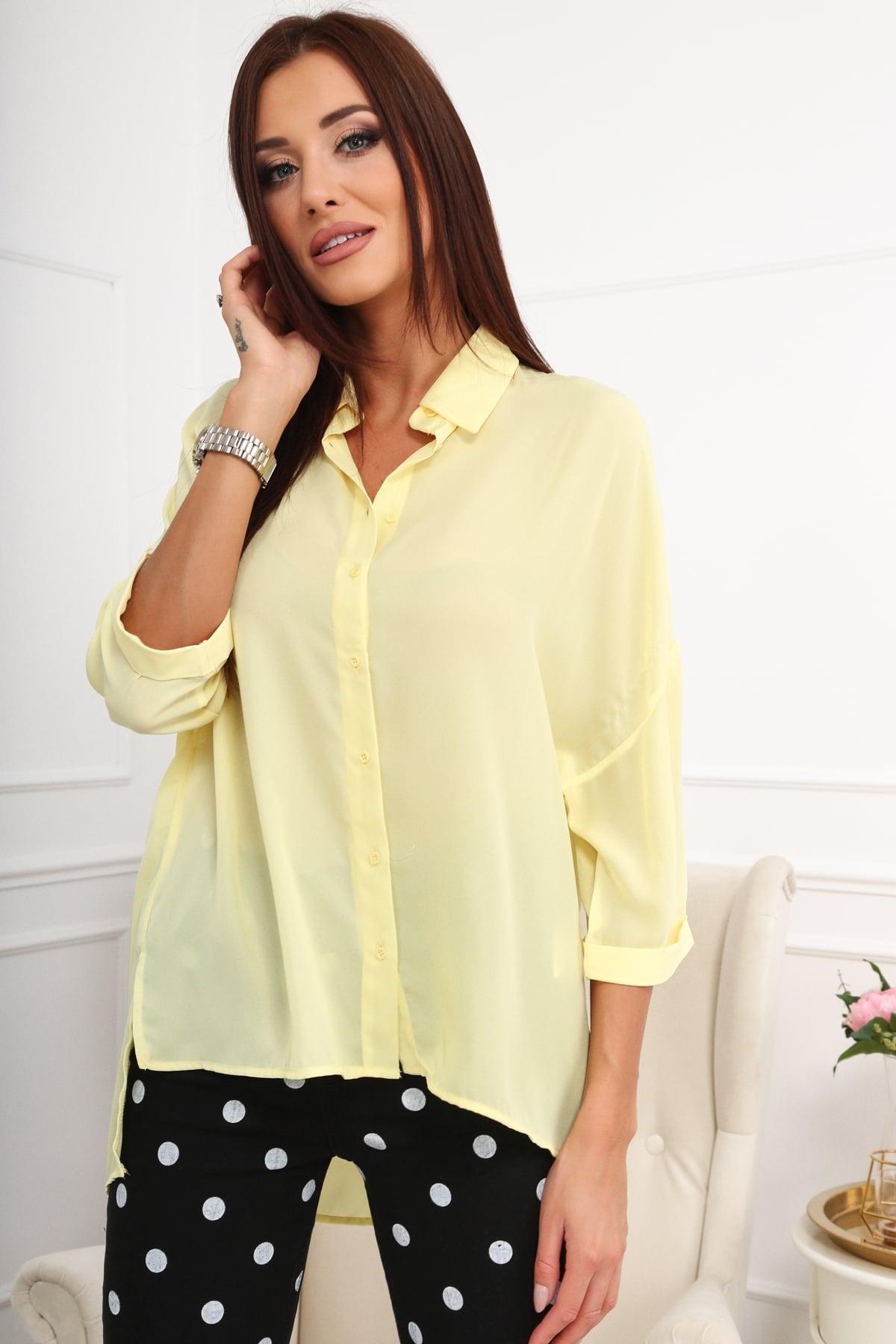 Dámska košeľa žltá