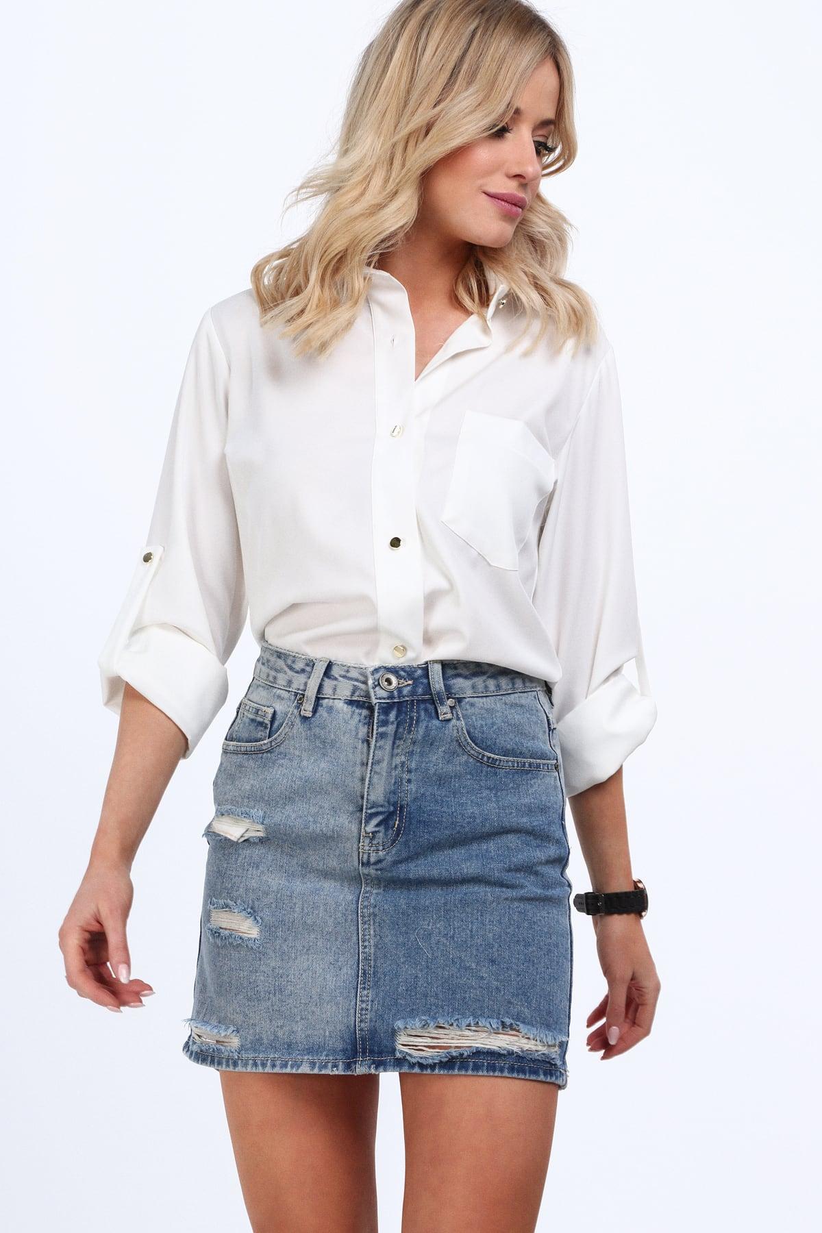 Mini sukňa džinsová