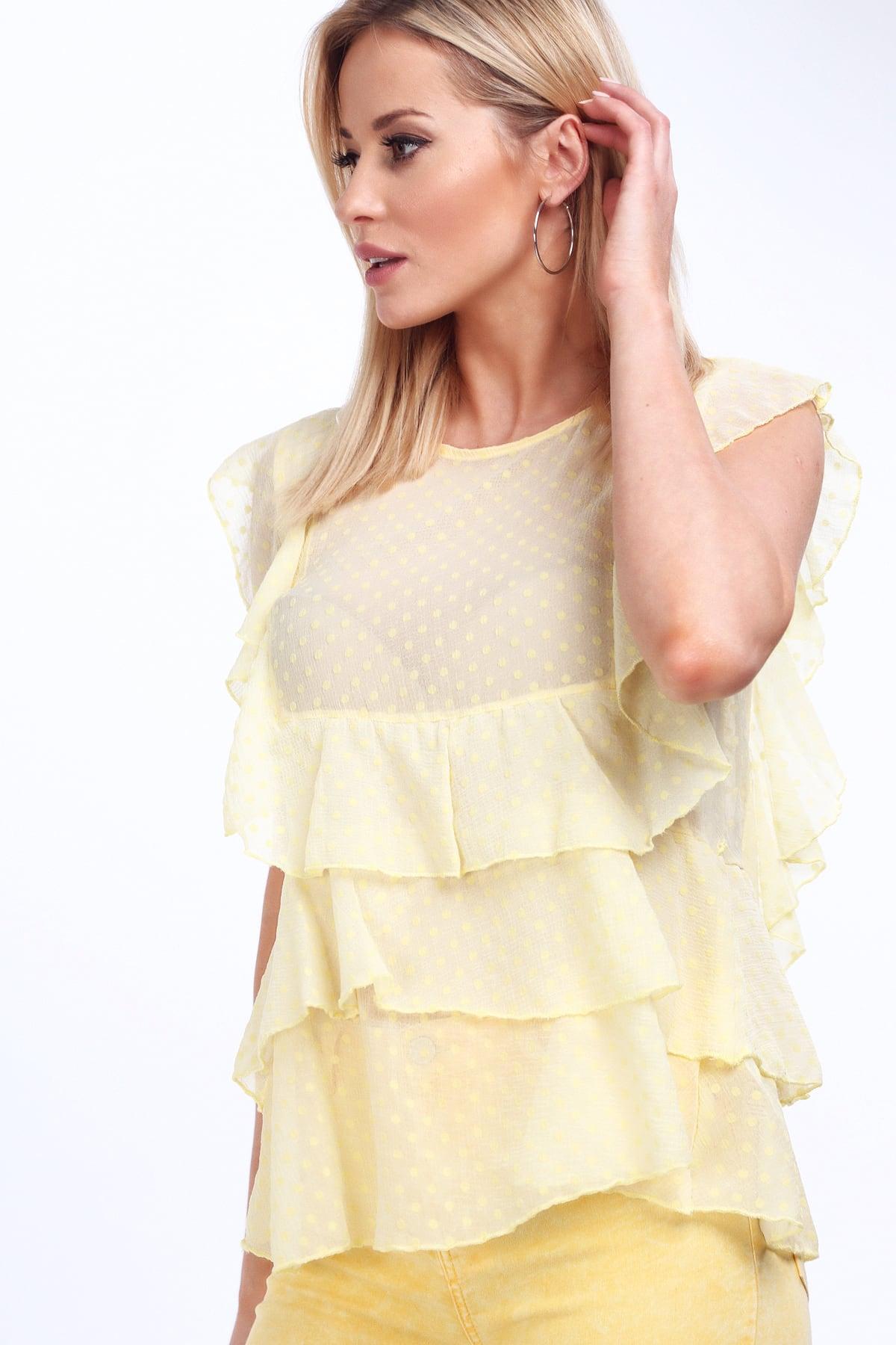 Žltá elegantná blúzka