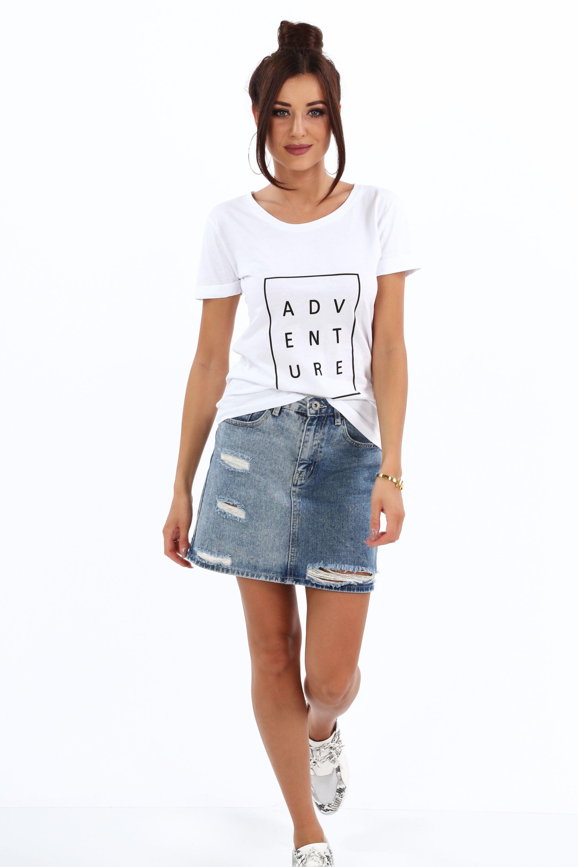 Bavlnené tričko s nadpisom